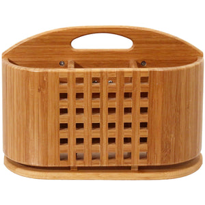 Bamboo DishRack Caddy