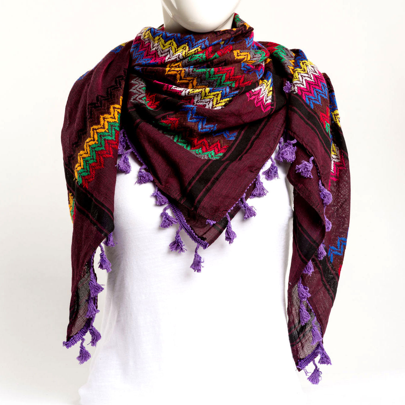 Authentic Hand Loomed Shawl (Roux)