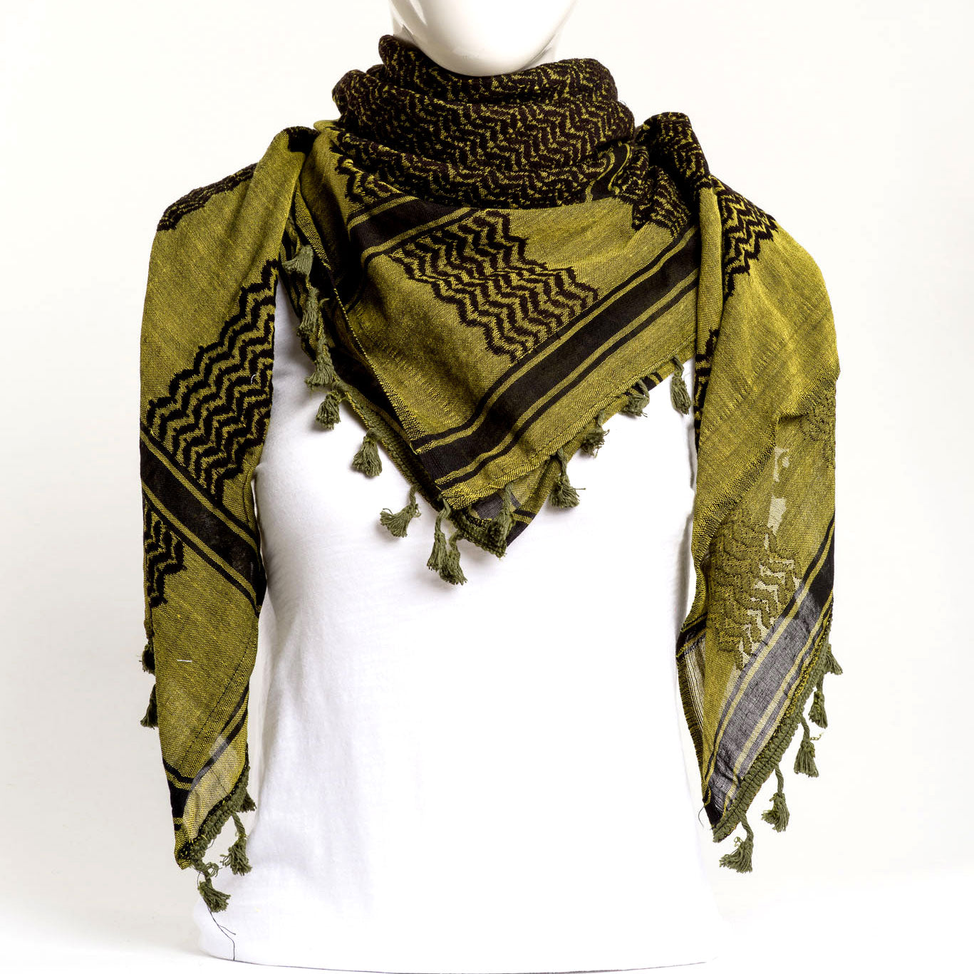 Authentic Hand Loomed Shawl (Olive)