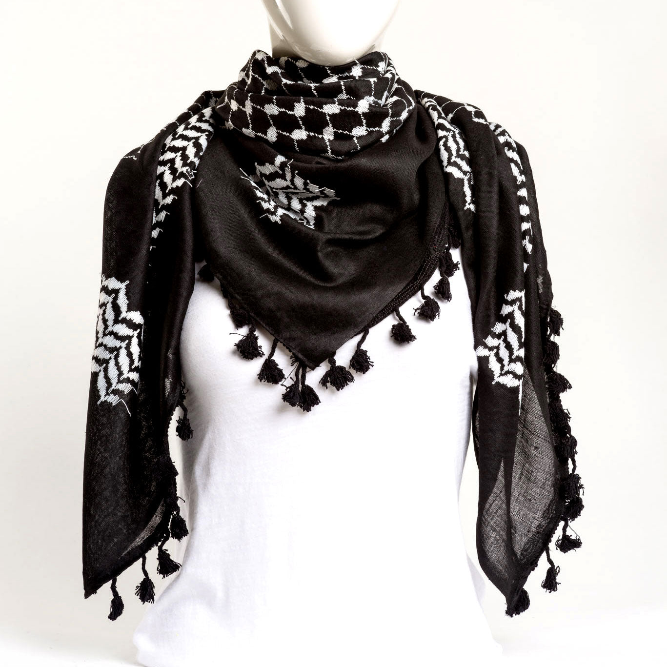 Authentic Hand Loomed Shawl (Jett)