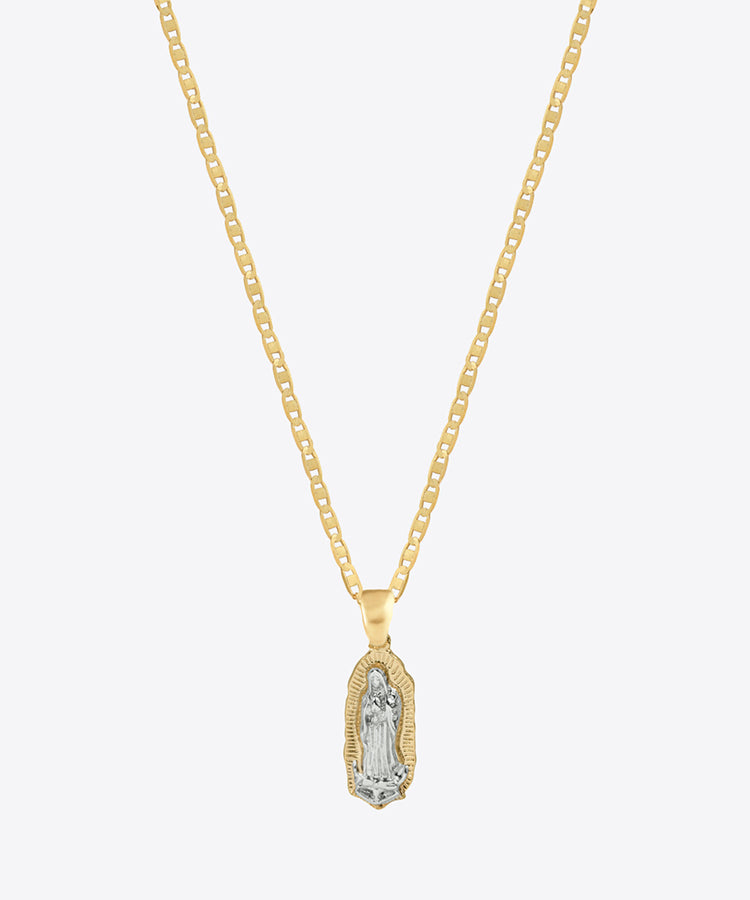 OUR LADY TWO TONE NECKLACE