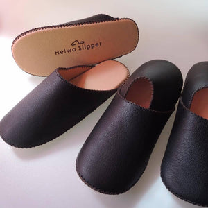 Slippers in Leather, Good Breathability