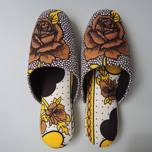 Large [27cm] : Batik Mix Slippers (Vintage Rose #1)  HM - Heiwa Slipper