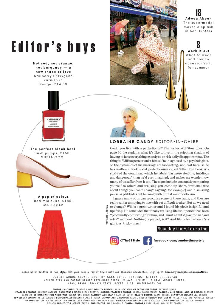 Nicole Heels In Sunday Times