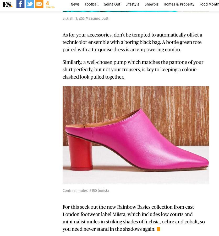 Anne Mules In Evening Standard