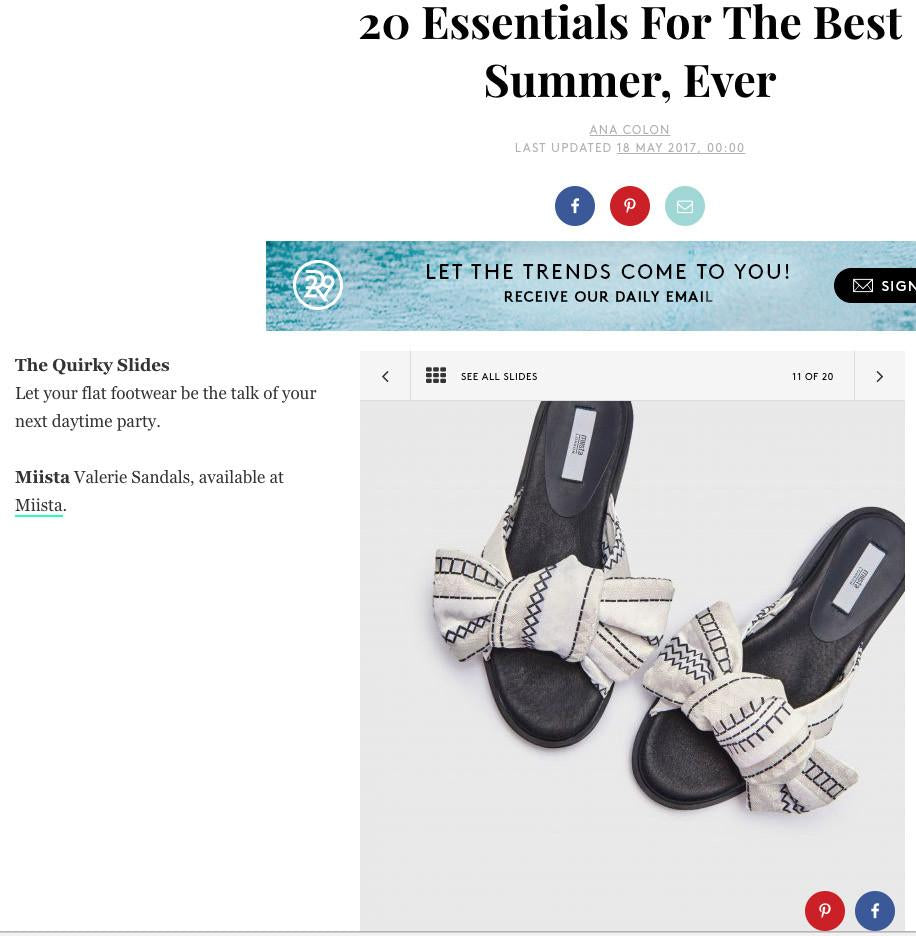 Valerie Zig Zag Slides Featured In Refinery 29
