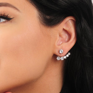 cz crawler earrings featured on a woman