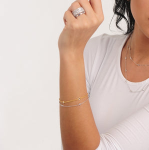 Bracelets featured on a woman