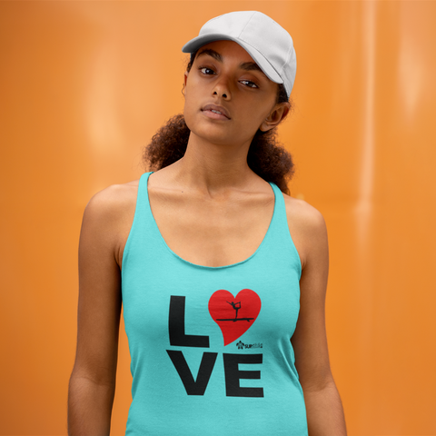 soft womens tank top seamless love sup yoga turquoise paddle board