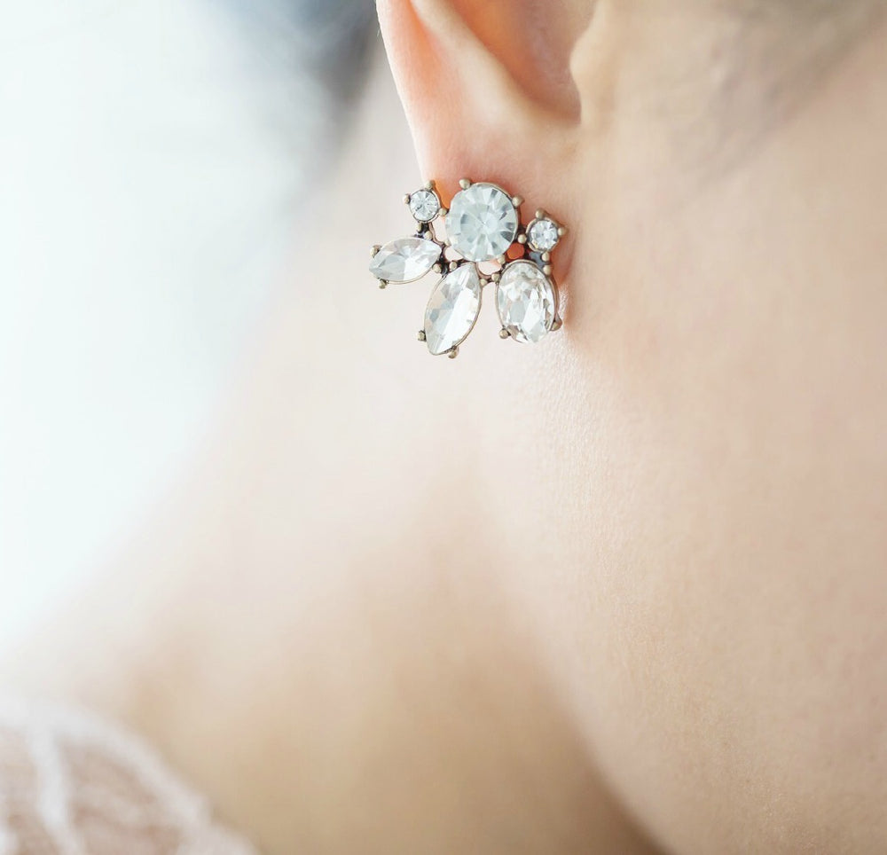 Madison Crystal Stud Bridesmaid Earrings