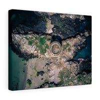 Martello Tower, Irelands Eye, Howth, Co. Dublin, Ireland  - Canvas Wrap