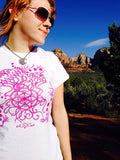 Jelly Fish Ladies Cotton T-Shirt. Original Sacred Geometry Clothing by Enlighten