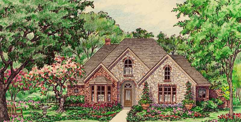 Country Style Home Plan C7011 B