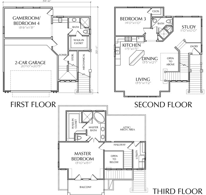 Townhouse Plan D6111-2222