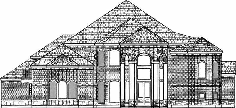 Two Story House Plan D4071