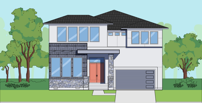 Two Story Home Plan E6121