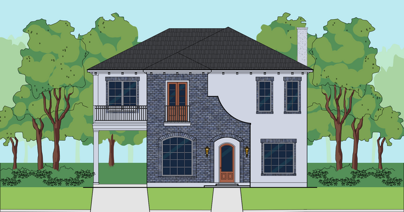 Two Story Home Plan E6148