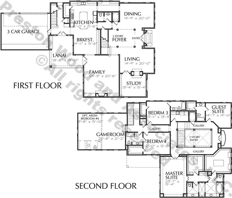 Two Story Home Plan D3238