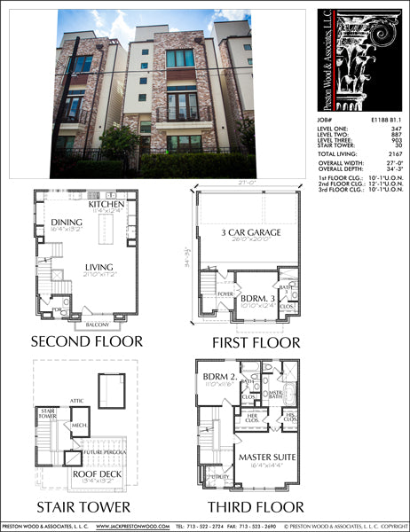 Townhouse Plan E1188 B1.1