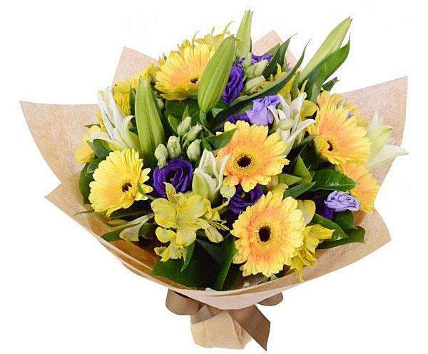Gerberas, Lilies & Eustoma Bouquet-Online Flower Delivery Melbourne