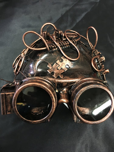 Steampunk Half Mask with Lights