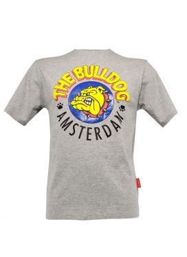 Τ-Shirt The Bulldog Men Grey Small
