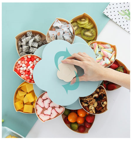 rotating flower snack box