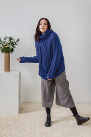 Sara Chunky Turtleneck Hand Knitted Sweater