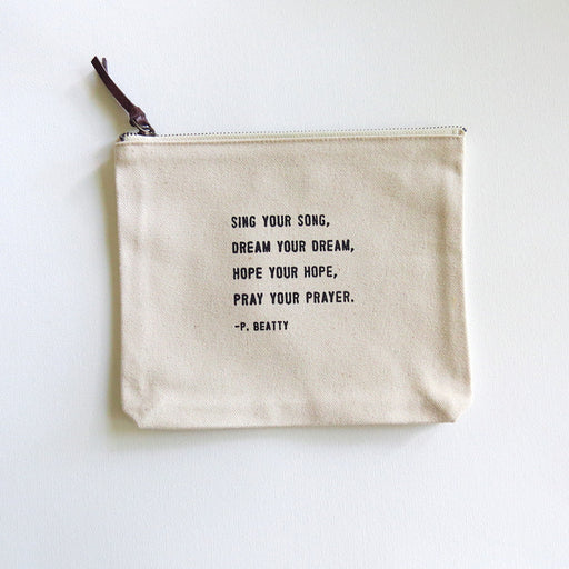 SING YOUR SONG CANVAS BAG