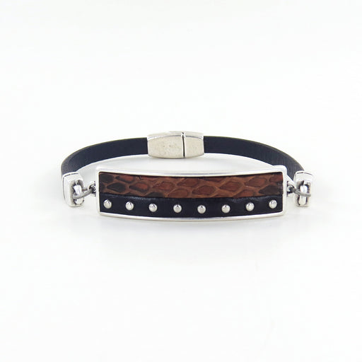 PYTHON HORIZON LEATHER BRACELET