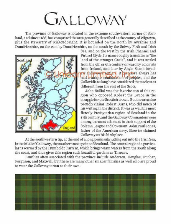 Clan, District, Prints and Maps