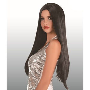 Extra Long Black Wig