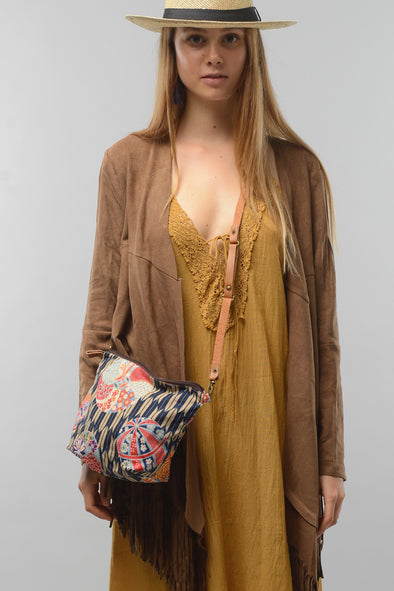 Boho Sling Bag in Japanese Print