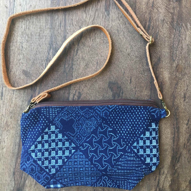 Boho Sling Bag in Patchwork Indigo