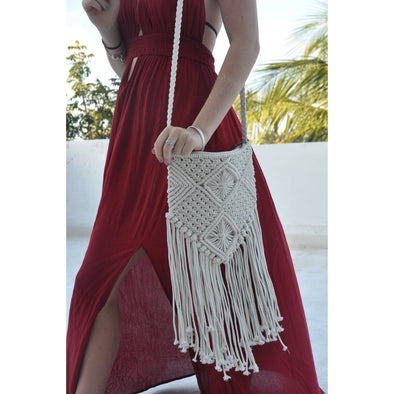 Boho Macrame Long Sling Purse