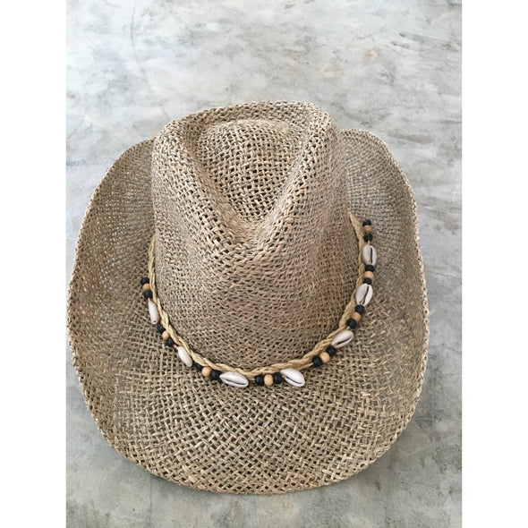 Beach Cowboy Hat in Natural Fiber