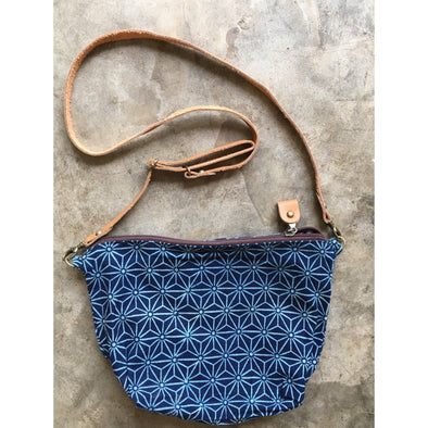 Boho Sling Bag in Indigo