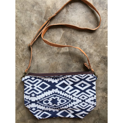 Boho Sling Bag in Blue Diamond