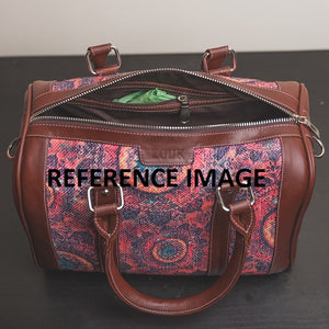 Multi Crystal Print Handbag