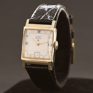 1947 ELGIN De Luxe USA Vintage Gents Dress Watch