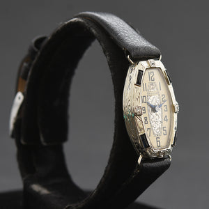 20s BULOVA Ladies 14K Gold/Diamonds Art Deco Watch