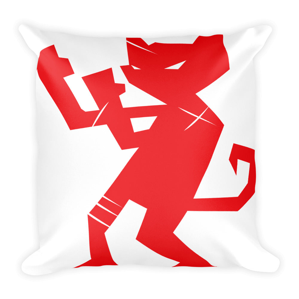 Square Pillow. Friendly Cats