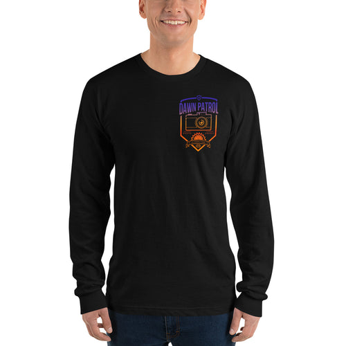 Dawn Patrol. Photographic workshops. (The Shield) Long sleeve t-shirt