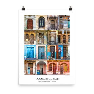 Poster. Doors of Cuba #8. Original photos by Studio Gavilondo. 18 x 24 in.