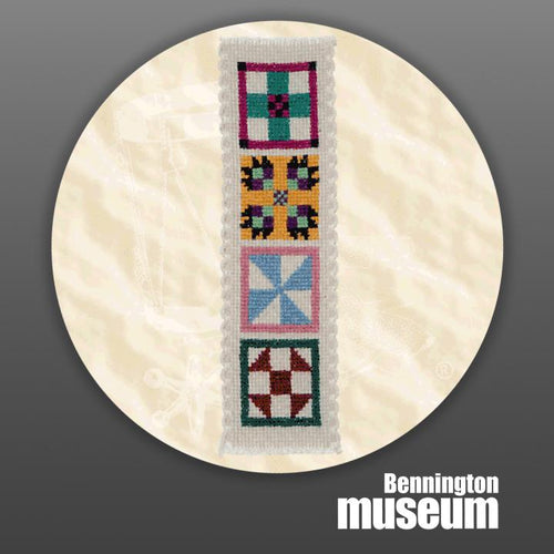 Historic Folk Toys: Craft, 'Quilt Pattern Bookmark'