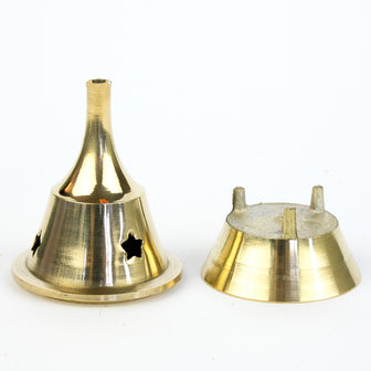 Anna's Incense Brass Cone Burner - Regular