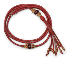 Kangaroo leather show lead in roan - Emoticon Kangaroo Leather Show Leads