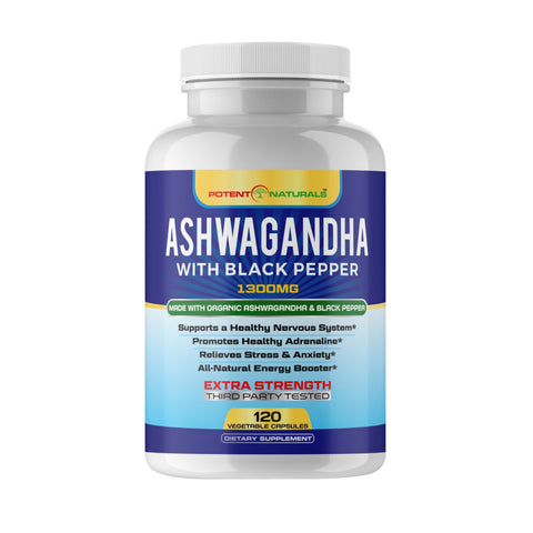 Organic ASHWAGANDHA With Organic Black Pepper