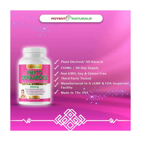 Image of PHYTOCERAMIDES Natural Anti-Aging 350mg (Plant-Derived)