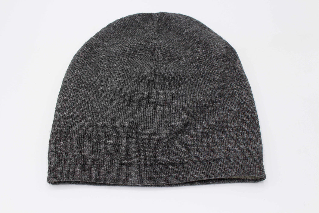 Double Sided Dark Gray & White Unisex Cashmere Cap/Beanie